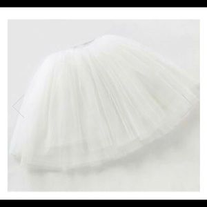 Soft White Tulle Skirt with Swarovski Crystals
